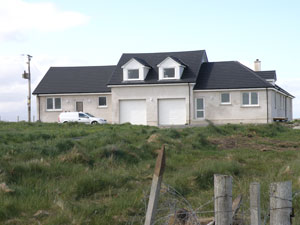 New house nearing completion for Lewis and Christine MacDonald, 4 Brue