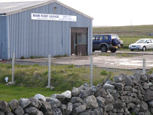 Former vehicle servicing business of Jack Smith, 5 Park Barvas, now run by Dòmhnall Iain MacLeod, 1 Upper Barvas