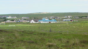 The new school site, looking towards Lower Barvas and the Machair, with the (soon to be) old school in the left corner