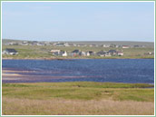 Looking south-east over Lower Barvas from Rubha Mhòr on Barvas Machair